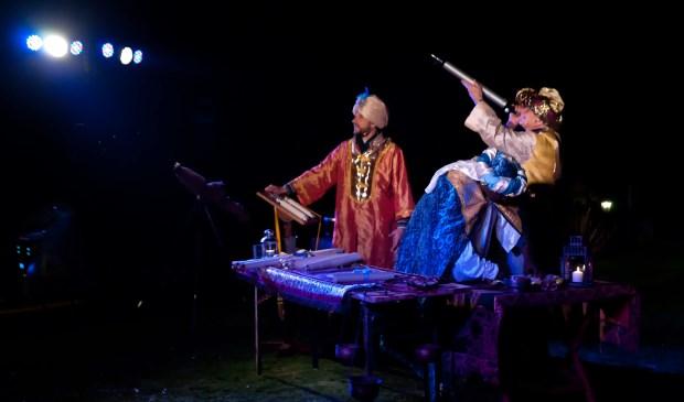 Een scène uit het kerstverhaal, te zien tijdens het kerstwandeltheater.