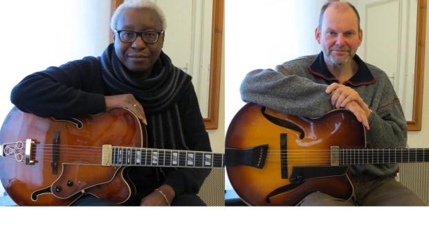 Michael Samson en Jos Groot komen dinsdag in actie tijdens het lunchpauzeconcert bij De VAK.
