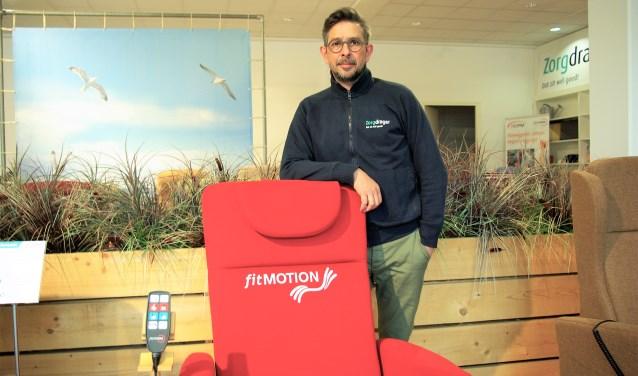 Steef van der Kruit van Zorgdrager staat achter het intelligente beweegsysteem van fitMotion.