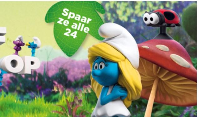 De Smurfen staan komende tijd centraal bij de PLUS-supermarkten in Delft en Den Hoorn.