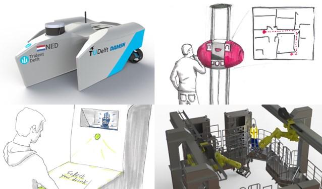 Acht verschillende teams werkten afgelopen jaar aan hun eigen unieke robot.