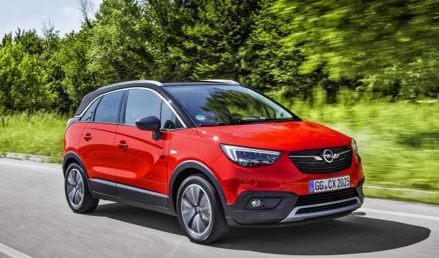 De Opel Crossland X, 'Best in Class Car 2017'.