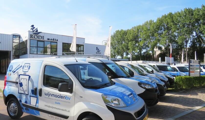 Het wagenpark van Wijnmaalen bv Schoonmaak- en bedrijfsdiensten ziet er weer fris en modern uit