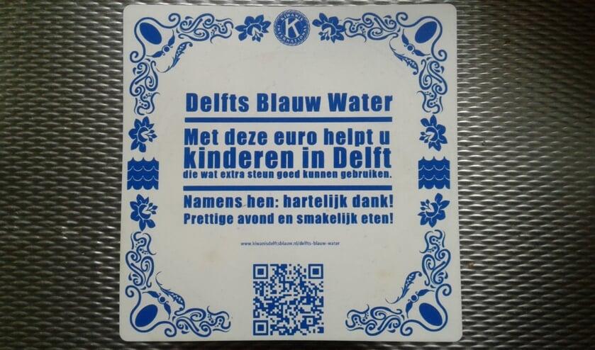 Ga voor Delfts Blauw Water met deze onderzetter en draag bij!