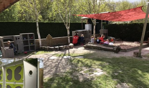 Buiten spelen en lekker buiten slapen in een speciaal 'buitenbedje'(inzet linksonder). (Foto: PR)