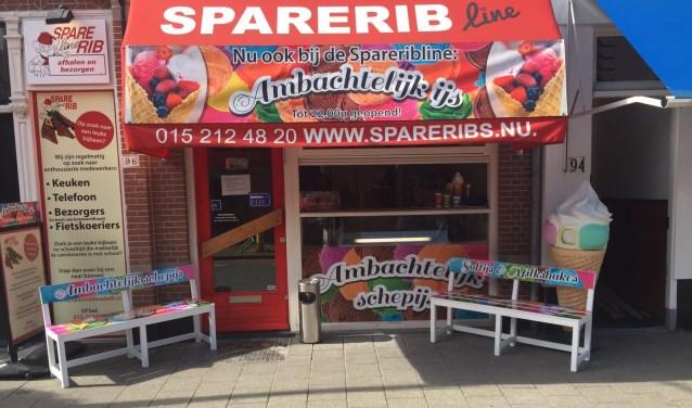 Bij Spareribline is ook heerlijk soft- en schepijs verkrijgbaar.