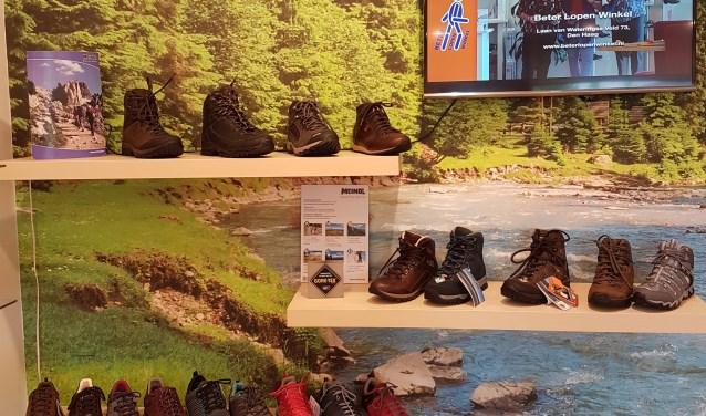 Er is ruime keuze in de collectie wandelschoenen bij de Beterlopenwinkel