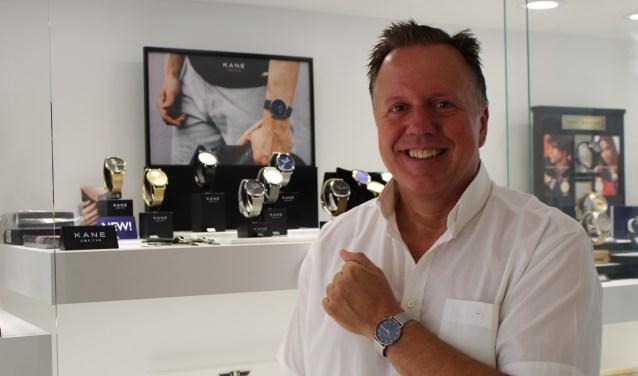 Dunne horloges, zoals van het merk KANE, zijn een trend, aldus Hans Spoolder