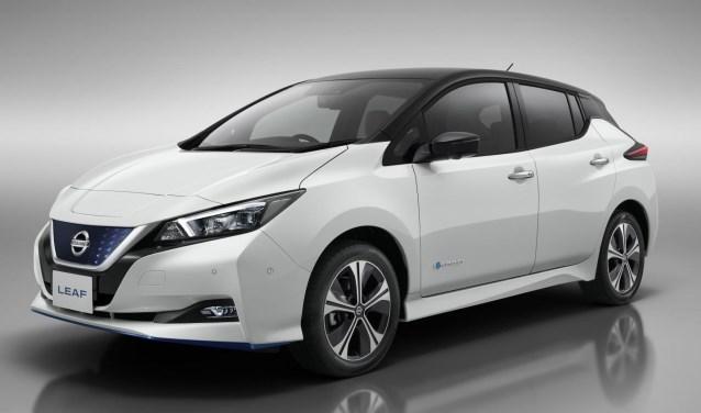 De Nissan LEAF modeljaar 2019.