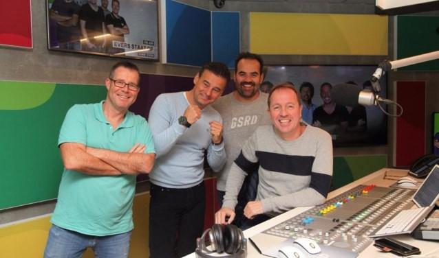 Links Rick Romijn, daarnaast Wilfred Genee, Niels van Baarlen en Edwin Evers