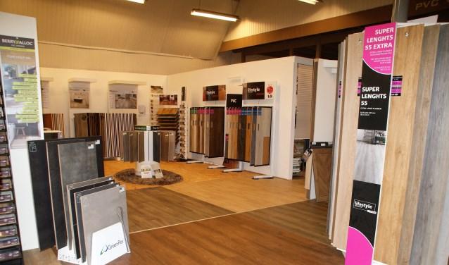 Een gedeelte van de showroom van All Interieur.