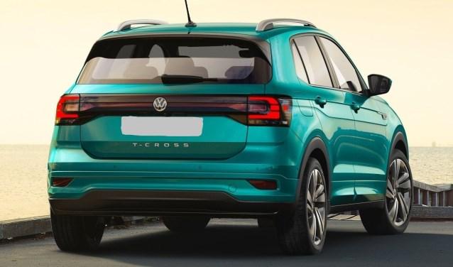 De achterzijde van de Volkswagen SUV, de compacte SUV T-Cross.