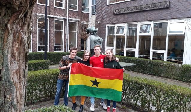 De vier Ghana-musketiers: Simon, Marit, Jasper en Lauri