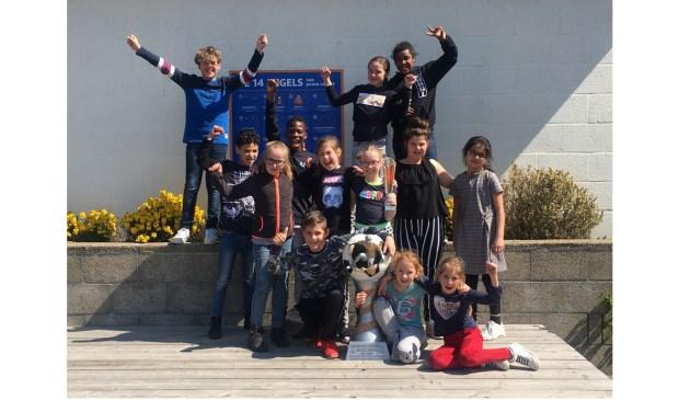 De sportiefste sporters tijdens het 4x4 toernooi, die van de Rembrandtschool.