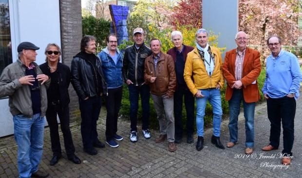De mannen van Tee Set, After Tea samen met Martin Reitsma, Joop van Straaten en Henk Mol