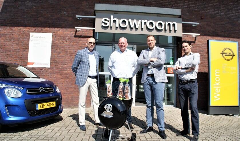 De medewerkers staan op Tweede Paasdag ook weer paraat, met vlnr Peter Overmeire, Ben van Holsteijn, Frans Meeuwisse en Roy Schaaij.