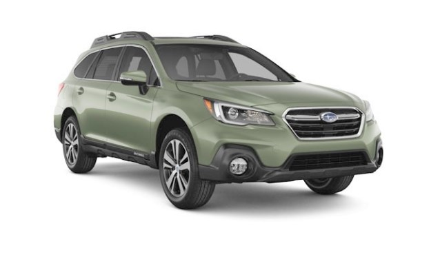 De Subaru Outback 2019 in Wilderness Green Metallic.