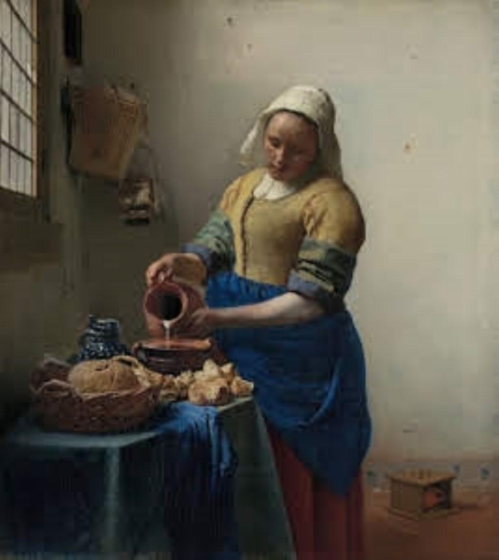 Het originele schilderij van Johannes Vermeer, waarvan een replica te zien is in het Vermeer Centrum Delft.  © RODI Media-zh