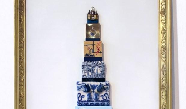 Het topje van een op de Tulpenvaas gebaseerd kunstwerk, behorend bij de speurtocht door de stad.