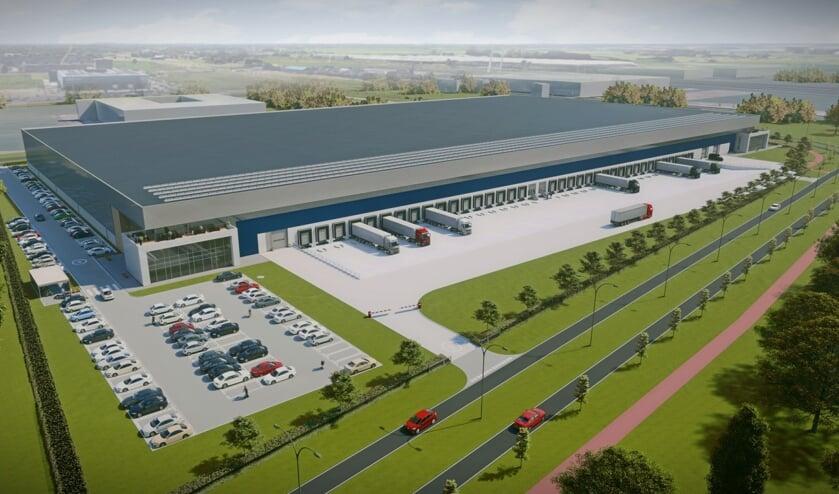 Logistiek dienstverlener Van der Helm opent eind dit jaar een compleet nieuw distributiecentrum in de Harnaschpolder. (Foto: PR)