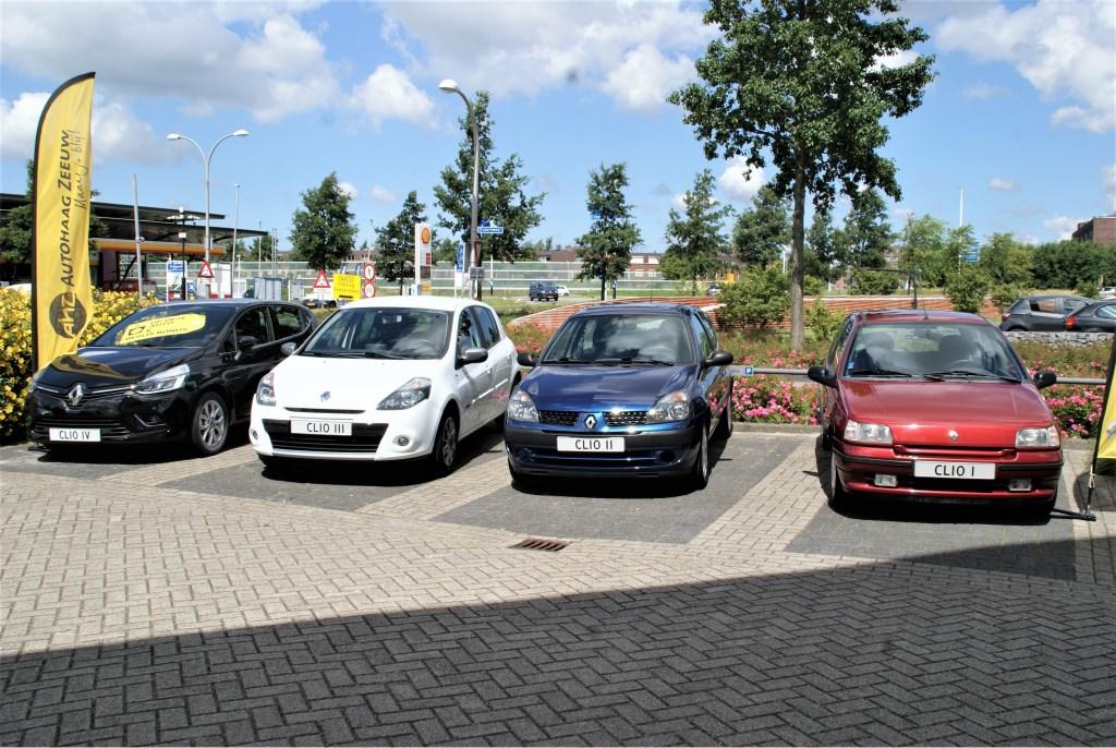 De vier voorgaande generaties van de Renault Clio.  © RODI Media-zh