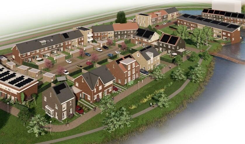 Het toekomstbeeld van de woonwijk De Kreek in Den Hoorn. (foto: PR)