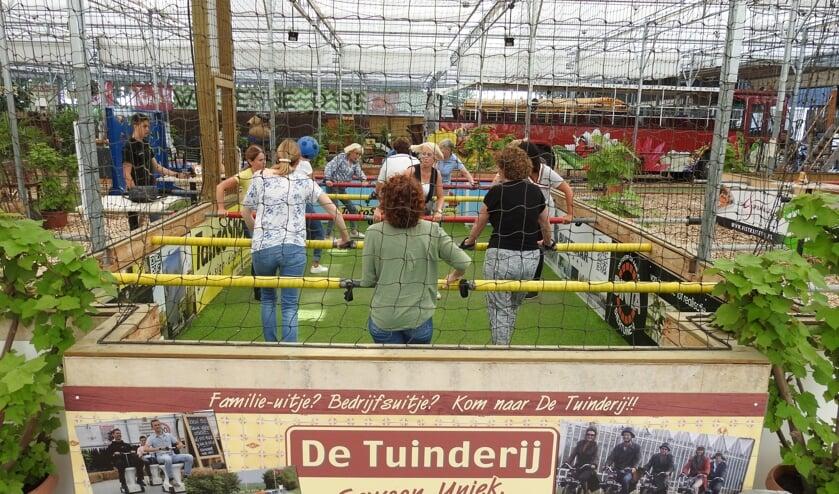 Levend Tafelvoetbal bij De Tuinderij.
