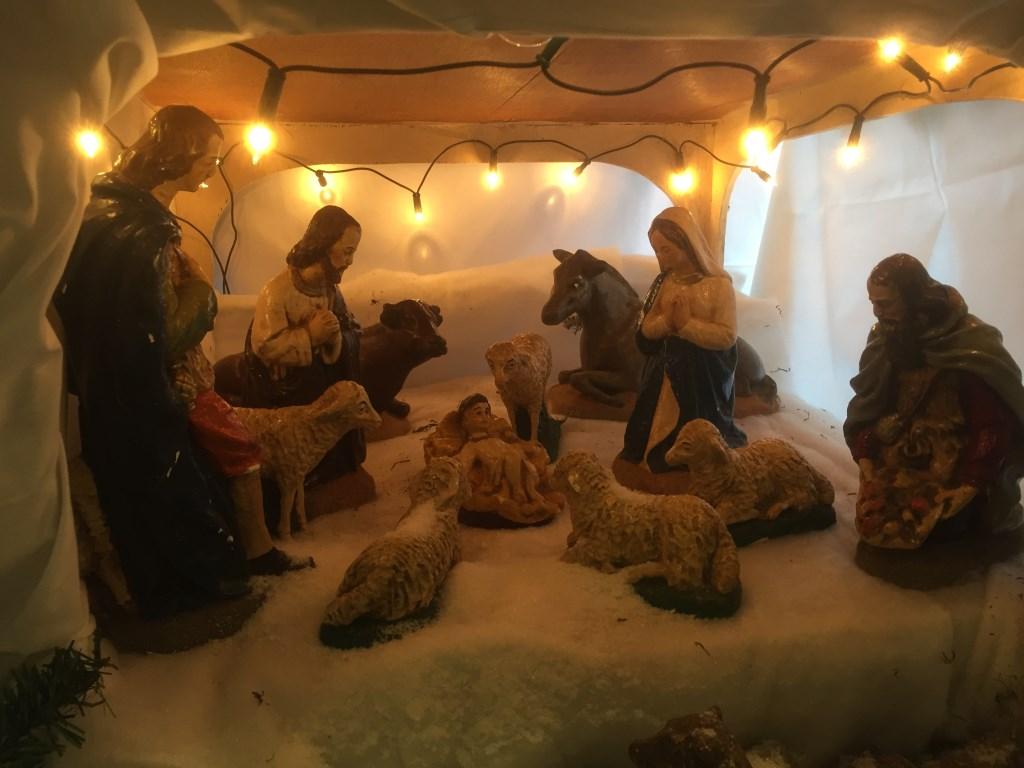 Kerststal in Santvoorde.
