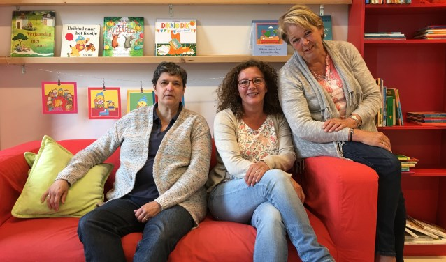 Juffen Heidi, Greetje en Mary zijn het vaste team bij Dribbel