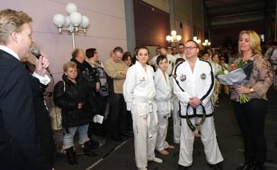 Taekwondoka's blij met dojo