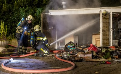 Uitslaande woningbrand Hubertusring