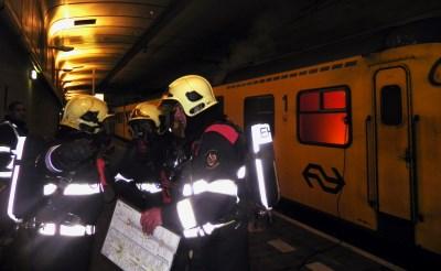 Minder treinen door rampenoefening