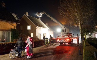 Schoorsteenbrand in Liempde
