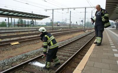 Spoorbiels in brand op station Boxtel