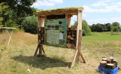 Bijenhotel in tuin waterschap