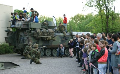 Militaire oefening in Boxtel