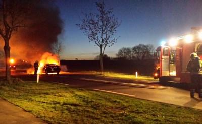 Verkeershinder in Boxtel door autobrand