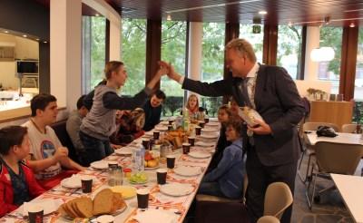 Ontbijten met de burgemeester...
