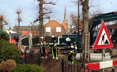 Gasleiding geraakt in Liempde