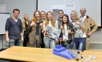 Technasium-meiden winnen wedstrijd Bosch Rexroth