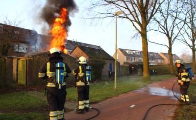 Brand verwoest schuurtje in Boxtel
