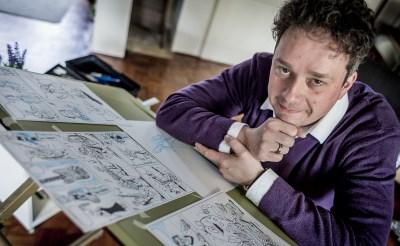 Striptekenaar bij Dommelland