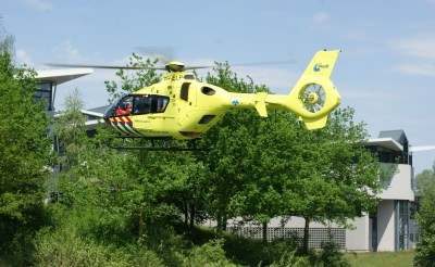 Traumahelikopter landt in Boxtel