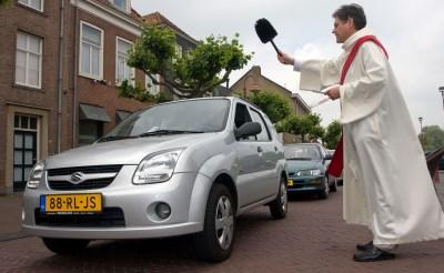 Zegening voertuigen op de Markt