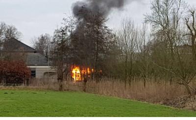 Brand op terrein De La Salle
