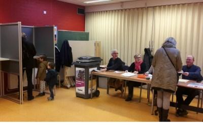 Drukte bij stembureau De Beemden