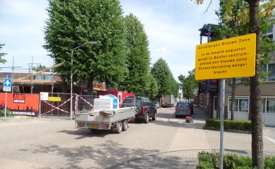 Blauwe parkeerzone is in aantocht...