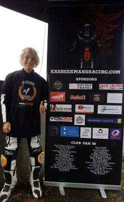 Motorracer Kas (13) wint Molenaar Cup