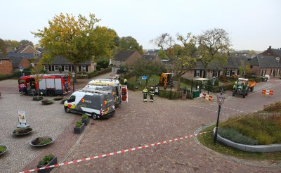 Gaslek bij Concordiapark in Liempde