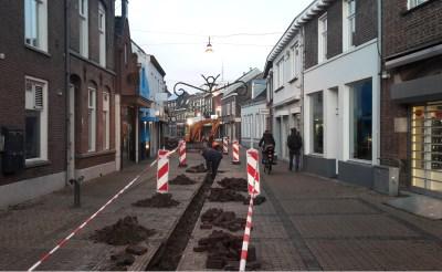 Nieuwe watergoten in Stationsstraat